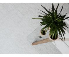 Alfombra shaggy en color blanco 200x300 cm DEMRE