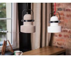 Lámpara de techo - Iluminación colgante - Yeso - Blanco - VERDE
