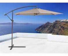 Sombrilla de jardín - Color mocca - Poste de acero - Resistente a los rayos UV