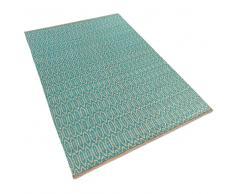 Alfombra de algodón – Azul-Beige – 80x150 cm – SILOPI