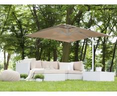 Sombrilla de jardín 250x250x235 cm beige arena MONZA