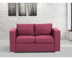 Sofá color borgoña - sofá tapizado - 2 plazas - HELSINKI