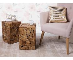 Mesa auxiliar - Diseño cúbico en madera - NELSON