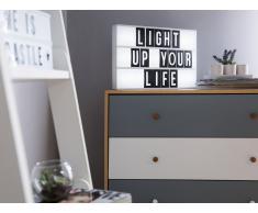Pizarra LED con 60 letras blanca ZEYA