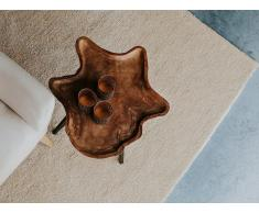 Alfombra shaggy en color beige claro 80x150 cm DEMRE