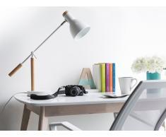 Lámpara de mesa - Lámpara de oficina - Madera -Blanco - PECKOS