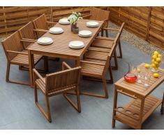 Conjunto de jardín de madera para 6 personas SASSARI