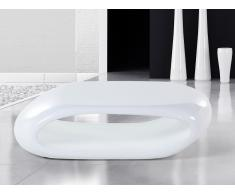 Mesa de centro - Fibra de vidrio - Auxiliar - Blanca -NESSUS