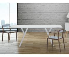 Mesa de comedor - Color blanco - 180 cm - LISALA
