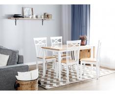 Mesa de comedor de madera blanca 119x75 cm LOUISIANA