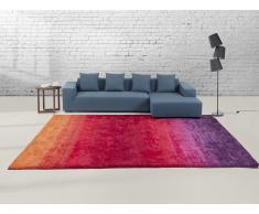 Alfombra violeta-roja - 80 x 150 cm - Shaggy - DINAR