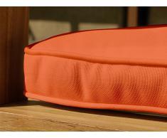 Colchón para banco de jardín - Cojín para mobiliario de exterior - 160 cm - Color terracota