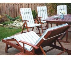 Cojín para silla de jardín TOSCANA rayas color beige verde
