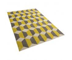 Alfombra de poliéster - 140x200 cm - Color gris-amarillo - ANTALYA