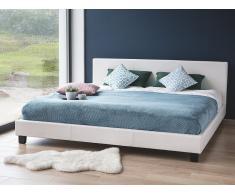 Cama en piel - 180x200 cm - Color blanco - ORELLE
