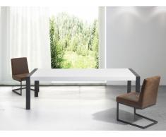 Mesa de comedor - Metal - Blanco y negro - 220cm - ARCTIC I