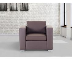 Butaca marrón - sillón de piel - HELSINKI