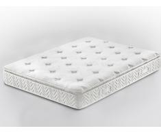 Colchón de muelles embolsados - 160 x 200 cm - Colchón Viscoelástico - Memory Foam - LUXUS