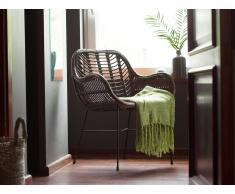 Conjunto de 2 sillas de ratán marrones CANORA