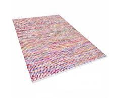 Alfombra de algodón - multicolor - 160x230 cm - Hecha a mano - BELEN