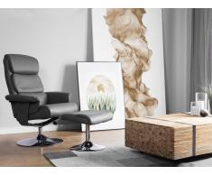Silla de oficina con función de masaje y reposapiés gris LEGEND