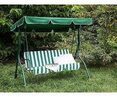 Columpio de jardín - 3 plazas - Verde blanco - CHAPLIN