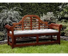Banco de jardín con colchón zigzag gris beige 180 cm TOSCANA MARLBORO