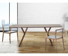 Mesa de comedor - Color nogal oscuro - 180 cm - LISALA
