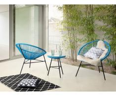 Conjunto de jardín - Mesa - 2 sillas - Azul - ACAPULCO