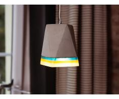 Lámpara de techo - Iluminación colgante - Concreto - Gris - MABEL