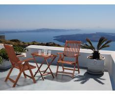 Conjunto de jardín de madera - Mesa - 2 sillas - TOSCANA