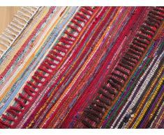 Alfombra de algodón - Multicolor - Tonos oscuros - 80x150 cm- DANCA