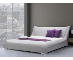 Cama tapizada - Super King Size - 180x200 cm - Con somier - Color gris - NANTES