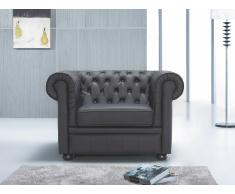 Butaca negra - sillón de piel - CHESTERFIELD