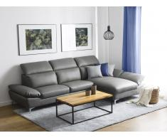 Sofá esquinero gris, versión izquierda FARILA