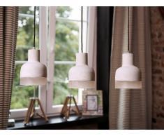 Lámpara de techo - Iluminación colgante - Concreto - Gris - LUNI