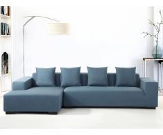 Sofá esquinero - Sofá Tapizado - Chaise longue derecho - Azúl - LUNGO