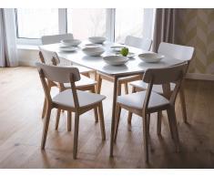 Mesa de comedor - Mesa de cocina - Blanco - 150x90 cm - SANTOS