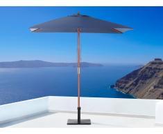 Sombrilla de jardín - Color azul marino - Madera - 144x195 cm - FLAMENCO