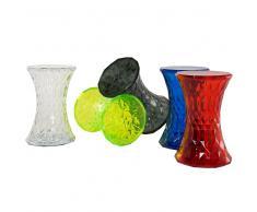 Mesa auxiliar - Rojo transparente - Material sintético - NEWHAM