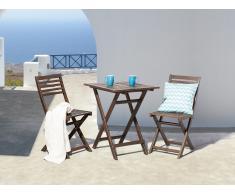 Conjunto de jardín de madera – Mesa – 2 sillas – FIJI