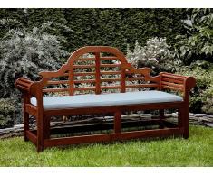 Banco de jardín con colchón azul claro 180 cm TOSCANA MARLBORO