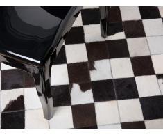 Alfombra de piel - Blanco y negro - ø 140 cm - BERGAMA