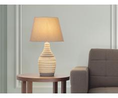 Lámpara de mesa - Pie de cerámica - Color marrón - TORMES