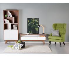 Cómoda - mueble de salón en MDF - nogal y blanco - COLUMBUS