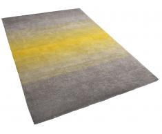 Alfombra gris-amarilla - 160 x 230 cm - Shaggy - DINAR