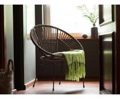 Conjunto de 2 sillas de ratán marrones SARITA