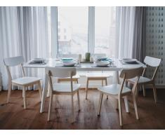 Mesa de comedor - Extensible - Blanco - 150-195 cm - SANFORD