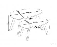 Mesa de centro de diseño - Rojo - FLY II