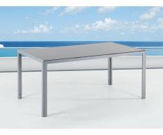 Mesa de jardín en aluminio con tablero de vidrio CATANIA